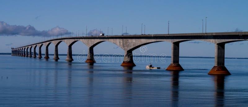 Confederation Bridge Prince Edward Island Canada. The Confederation Bridge links the island of Prince Edward Island to the mainland. The longest bridge over ice stock image
