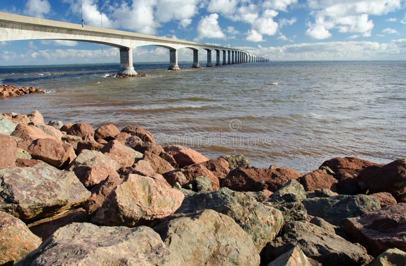 Confederation Bridge, Prince Edward Island, Canada. Confederation bridge connecting New Brunswick to Prince Edward Island stock images