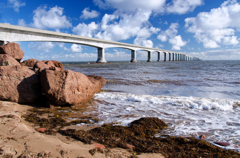 Confederation Bridge, Prince Edward Island, Canada. Confederation bridge connecting New Brunswick to Prince Edward Island stock photos