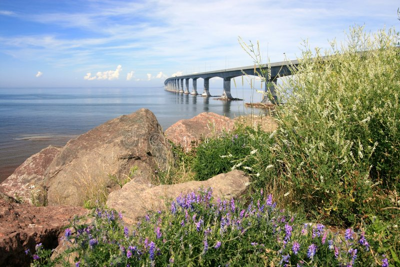 Confederation Bridge to PEI. The Confederation Bridge linking New Brunswick and Prince Edward Island. Canada stock images
