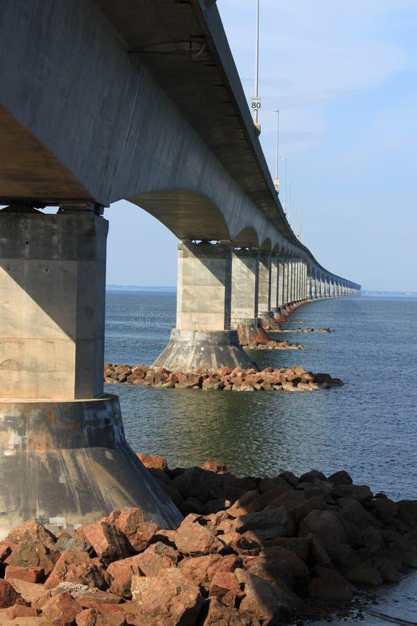 Confederation Bridge to Prince Edward Island. Confederation bridge connecting New Brunswick to Prince Edward Island royalty free stock photos