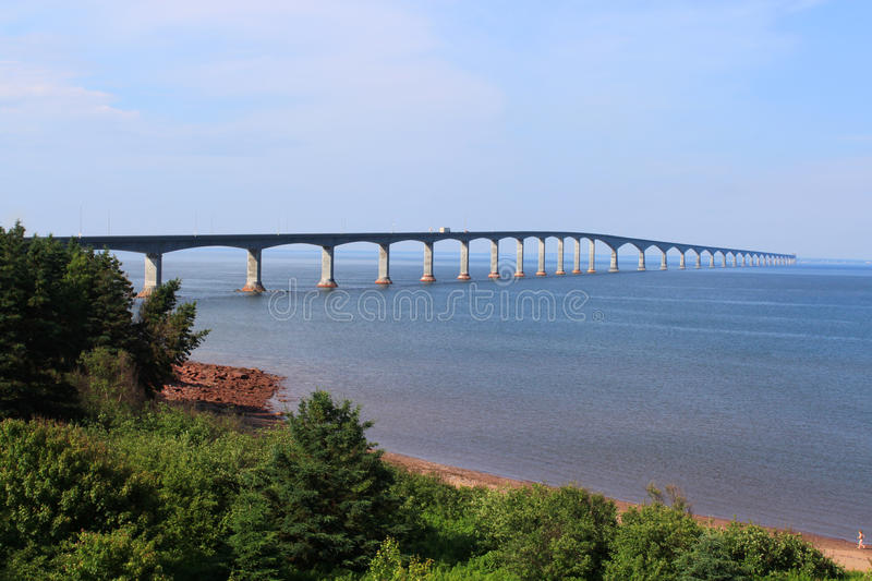 Confederation Bridge to Prince Edward Island. Confederation bridge connecting New Brunswick to Prince Edward Island royalty free stock images