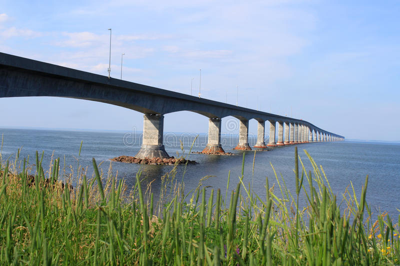 Confederation Bridge to Prince Edward Island. Confederation bridge connecting New Brunswick to Prince Edward Island stock photography
