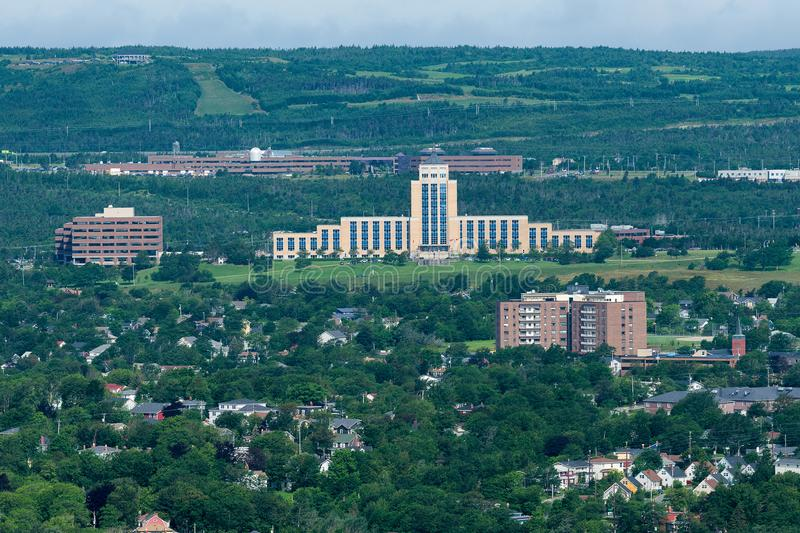 Confederation Building. From Signal Hill in St. John`s, Newfoundland and Labrador stock photos