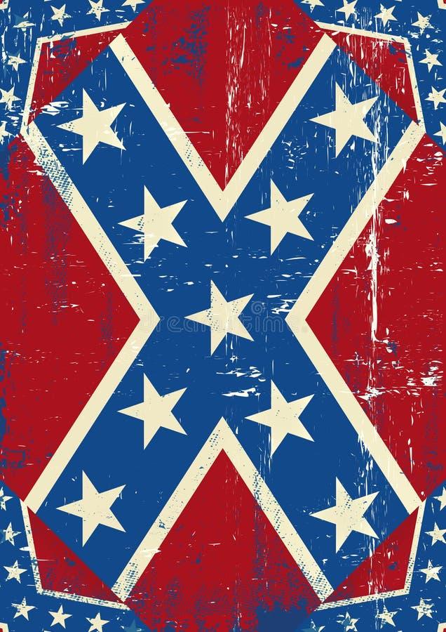 Confederatre grunge tło ilustracja wektor