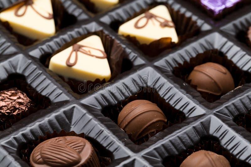 Confeitos do chocolate fotografia de stock royalty free