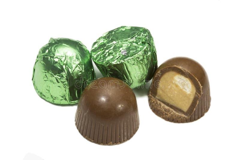 Confeitos do chocolate imagens de stock