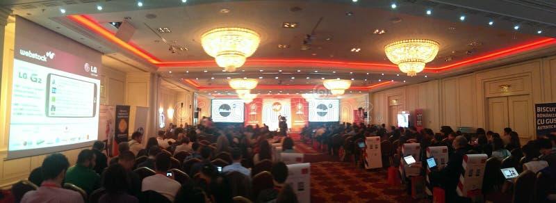 Conferência Bucareste 2013 de Webstock imagem de stock