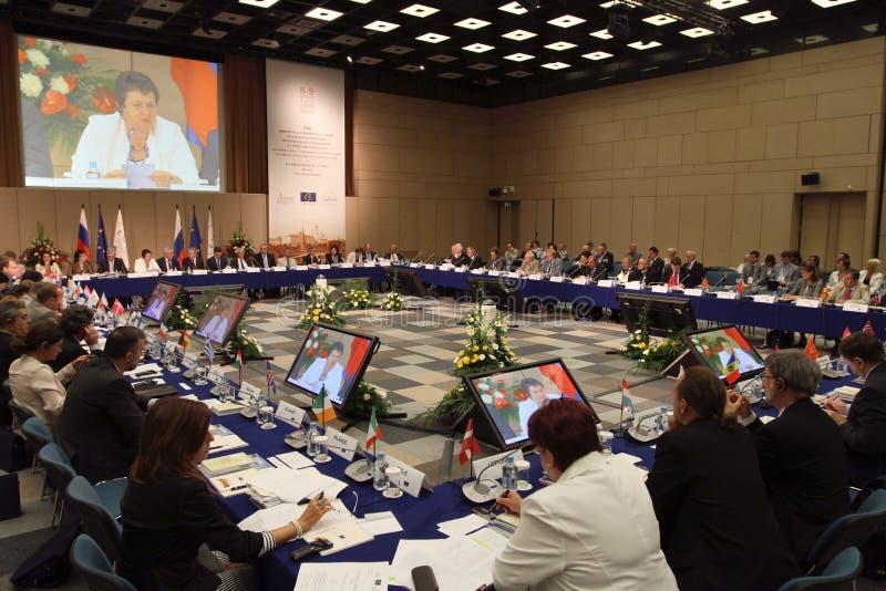 Conferência de 15 CEMAT em Moscovo. imagens de stock