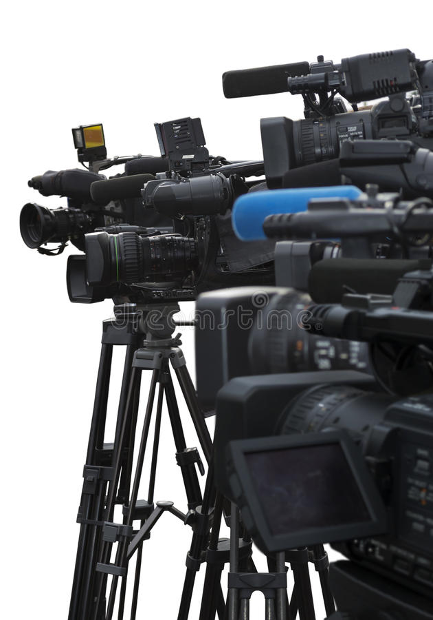 Conferência de imprensa fotografia de stock