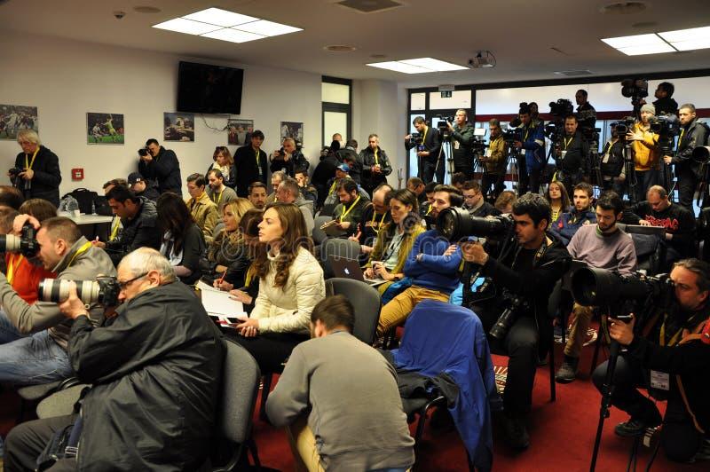 Conferência de imprensa imagem de stock royalty free