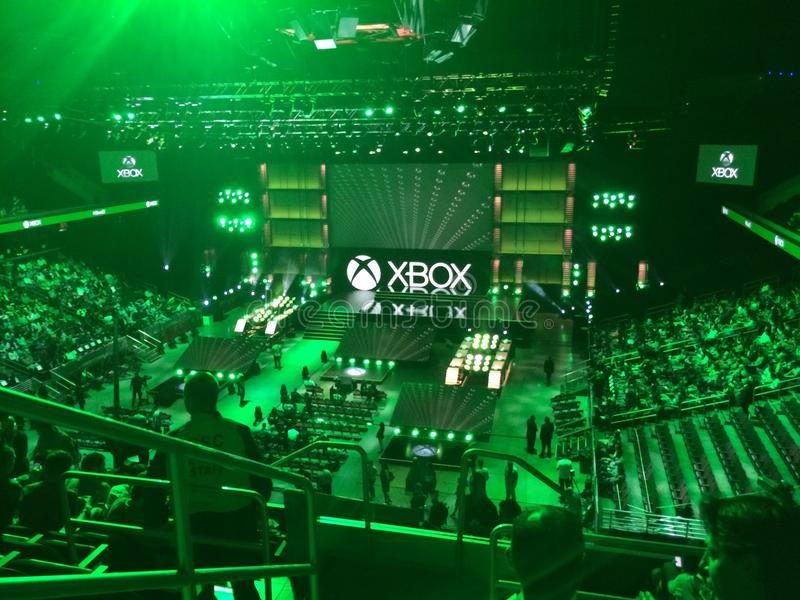 Conferência de imprensa do xbox e3 2014 de Microsoft imagens de stock royalty free