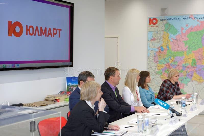 Conferência de imprensa na empresa de Ulmart fotos de stock