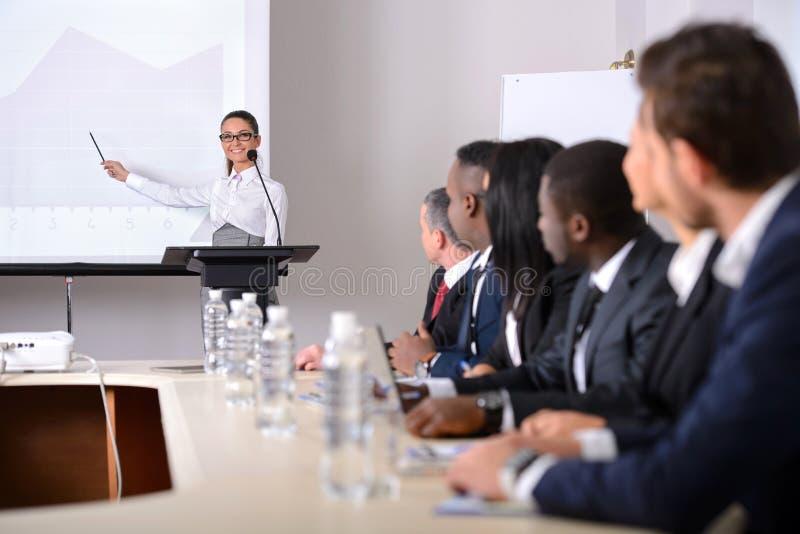 Conferência de negócio foto de stock