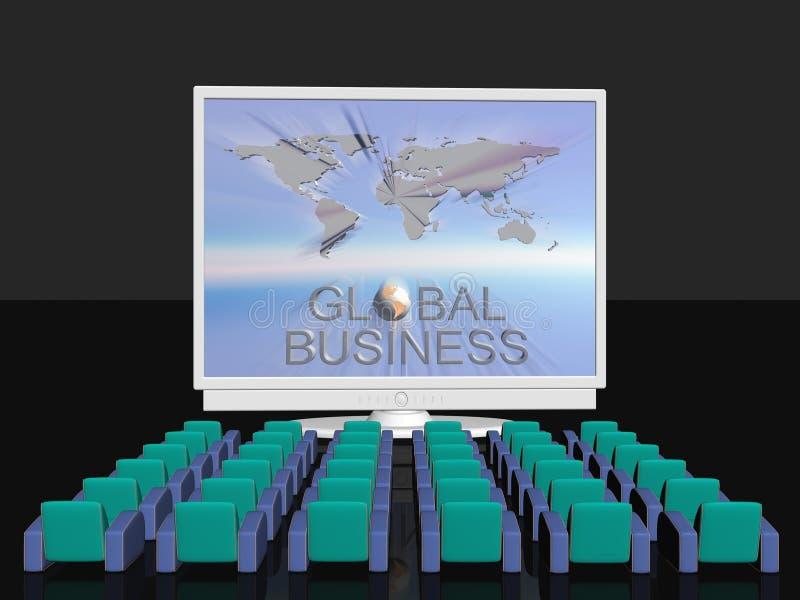 Conferência de negócio global ilustração do vetor
