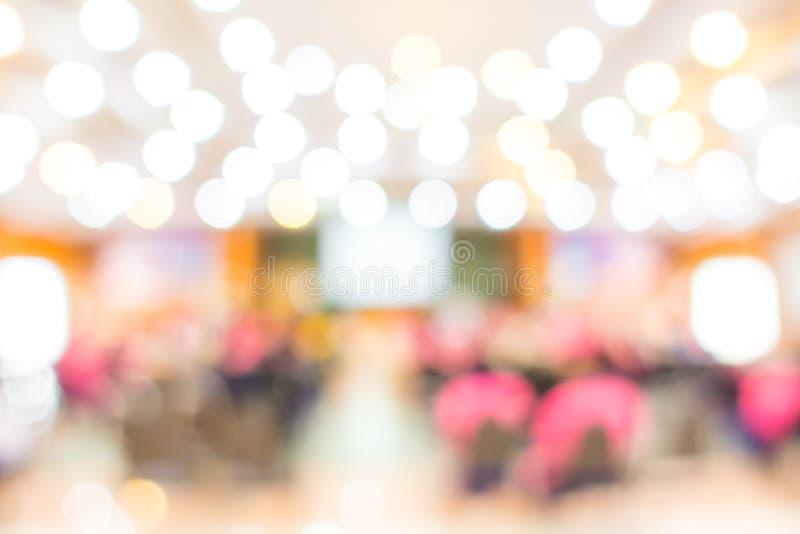 Conferência e apresentação abstratas de negócio do borrão foto de stock