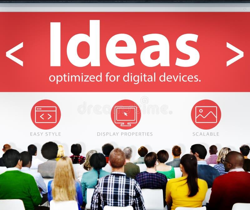 Conferência Learnin do seminário do conhecimento da inteligência dos pensamentos das ideias imagem de stock
