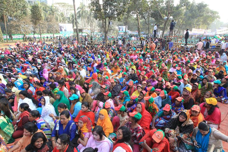 Conferência nacional da liga de Bangladesh Awami fotografia de stock
