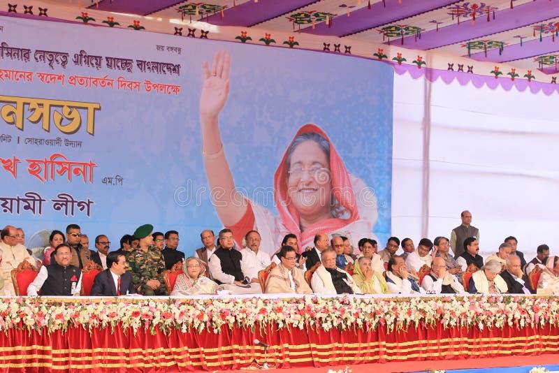 Conferência nacional da liga de Bangladesh Awami foto de stock