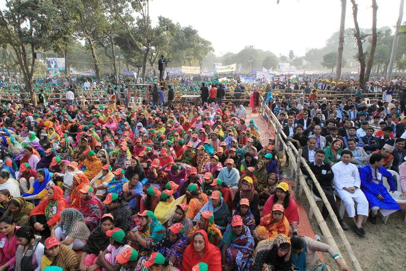 Conferência nacional da liga de Bangladesh Awami imagens de stock