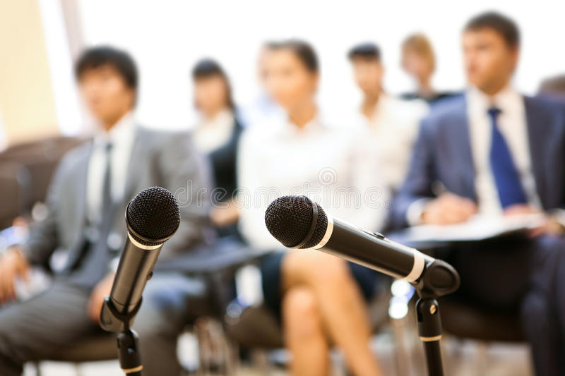 At conference royalty free stock photos