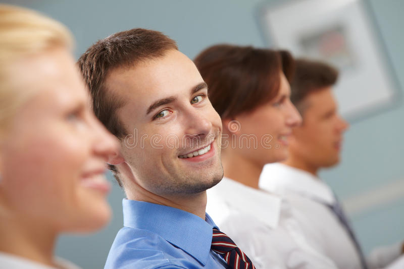 During conference royalty free stock photo