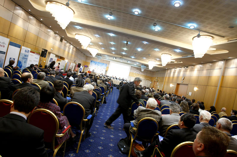 Conference. People attending a large PR conference in Bucharest, May 21, 2008