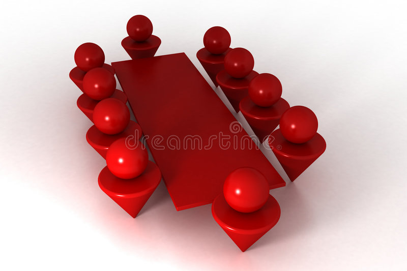 Conference 3d stock illustration