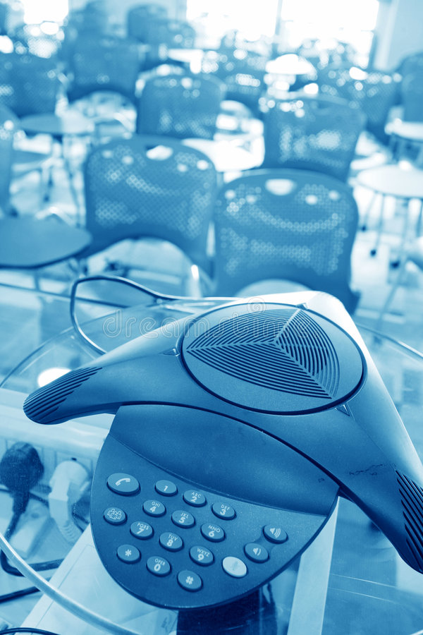 Conference call. In modern Meeting room royalty free stock photos