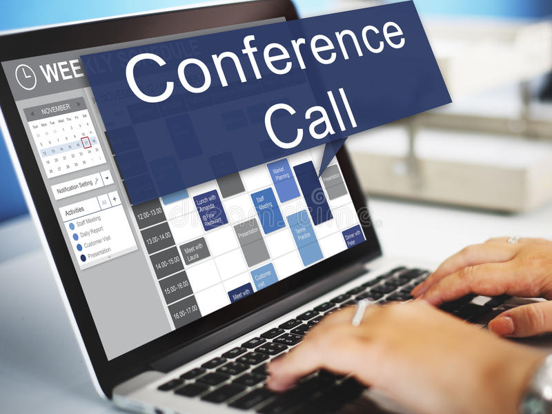Conference Call Boardroom Brainstorming Team Concept royalty free stock images