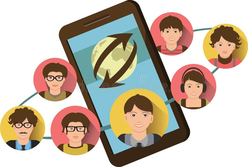 Conference call stock illustration