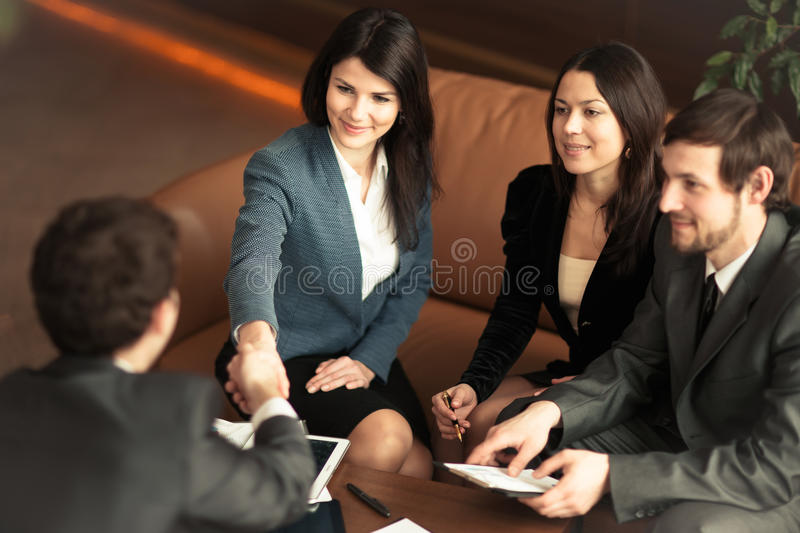 The conference of entrepreneurs. royalty free stock image