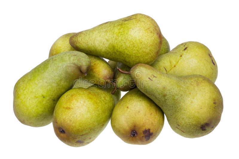 Conference grade yellow sweet pears stock photo