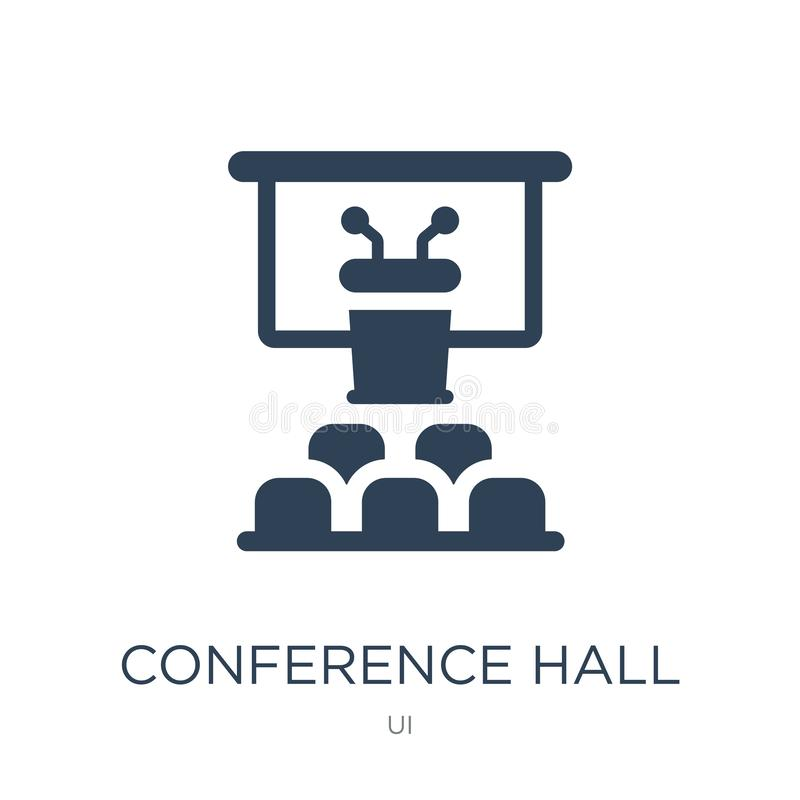 conference hall icon in trendy design style. conference hall icon isolated on white background. conference hall vector icon simple vector illustration