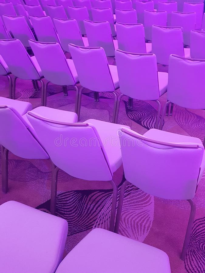 Conference Hall Studio Empty Seats stock images