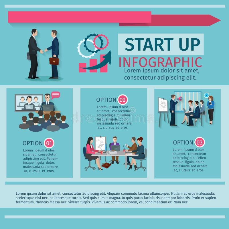 Conference Infographics Set stock illustration