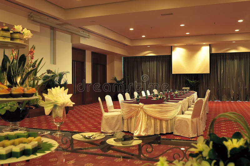 Conference / Meeting room. Shot of an upscale Conference / Meeting Room royalty free stock photo