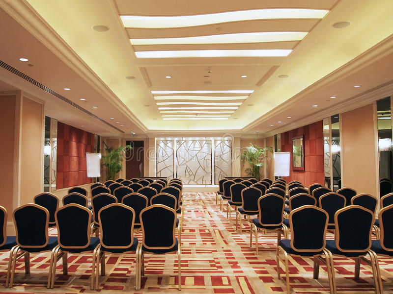 Conference Room. Or function room in a luxurious hotel stock image