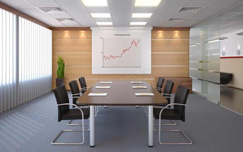 Conference room royalty free illustration