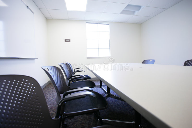 Conference room. Modern office conference room interior royalty free stock images