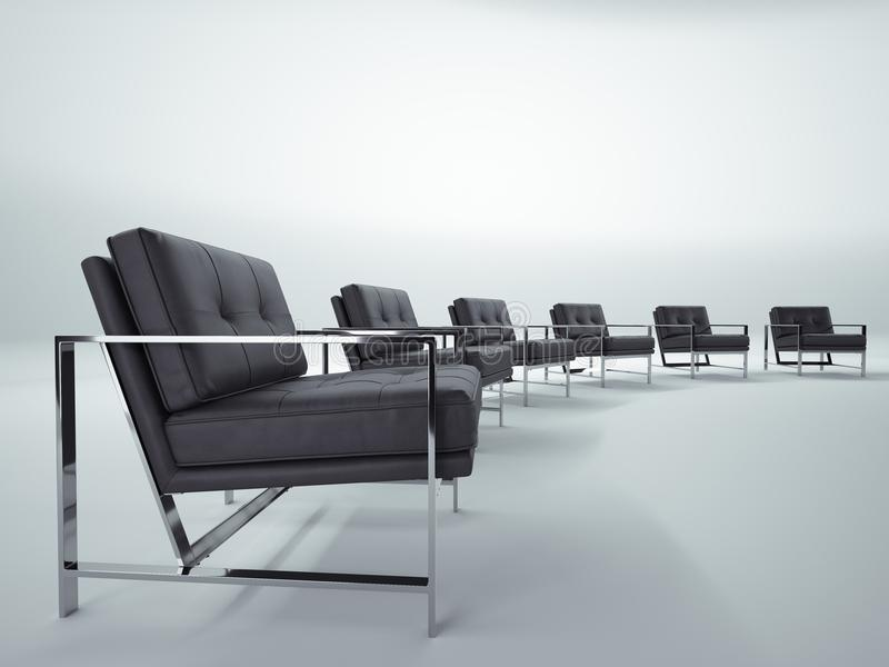 Conference room. Conversation and discussion royalty free stock photo