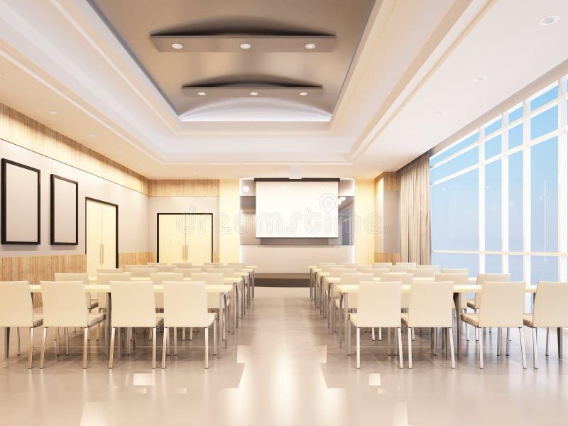 Conference room design. Of 3d rendering