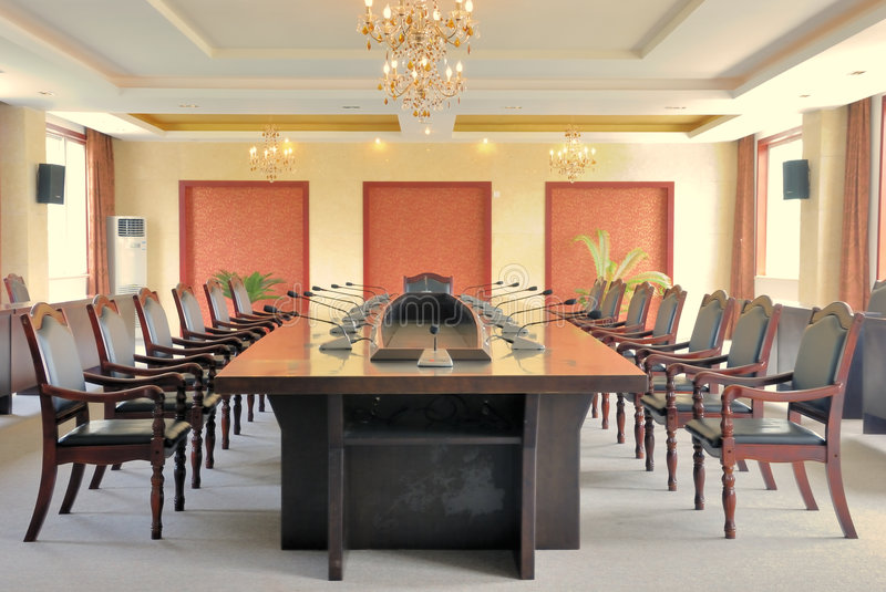 Conference room layout royalty free stock images