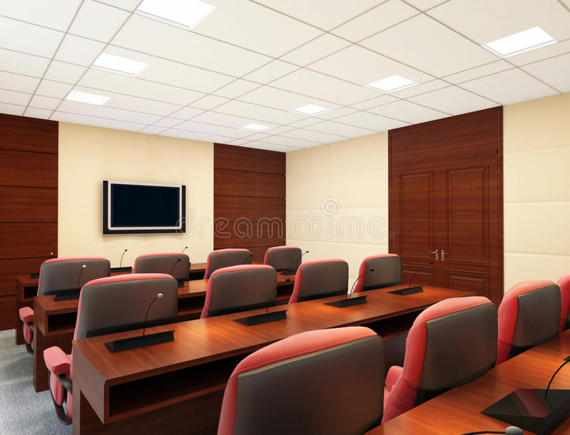Download Conference room stock illustration. Illustration of wood - 32245660