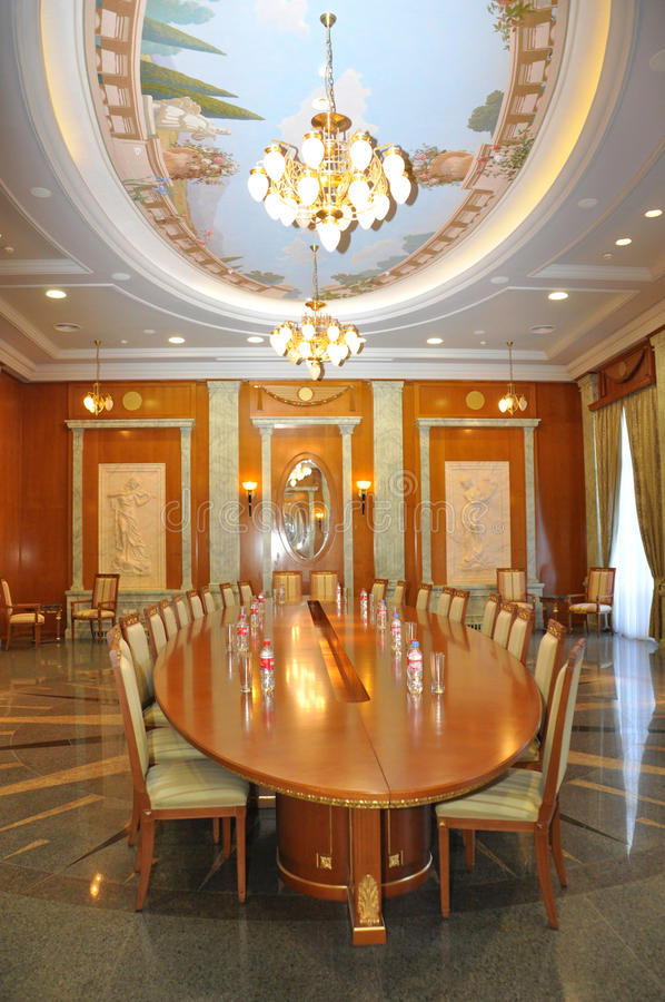 Conference Room (meeting room) in the palace style stock images