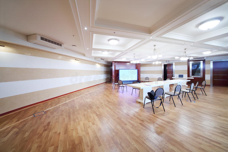 Conference room in MGIMO stock photos