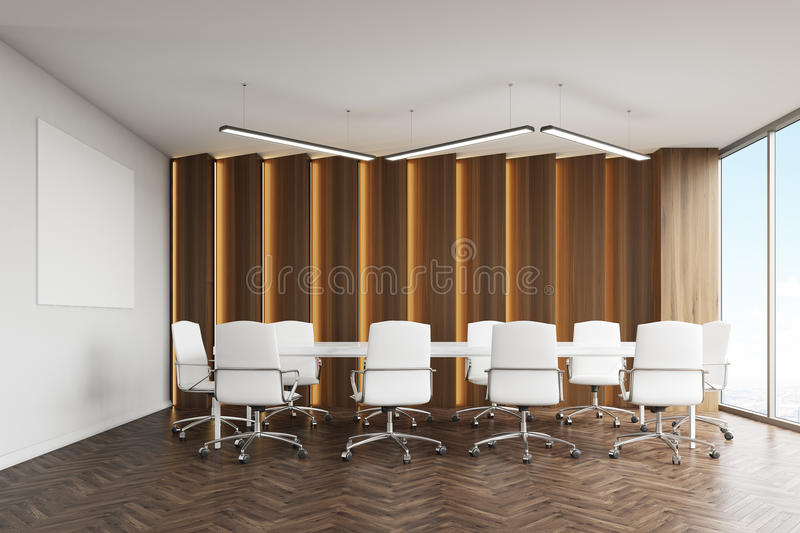 Download Conference Room With Panels And Poster Stock Illustration - Image: 83722675