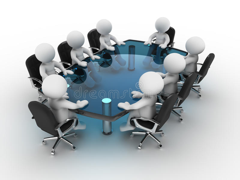 Conference table stock illustration