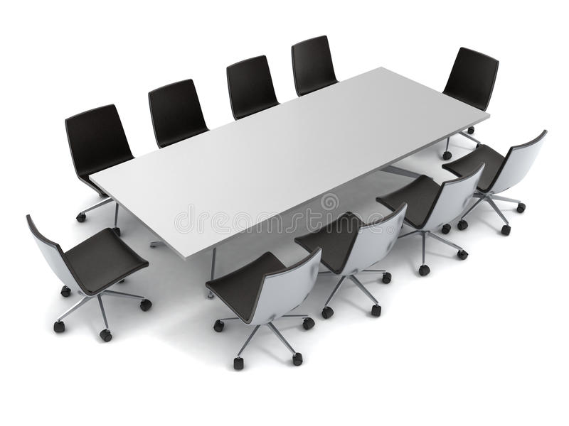 Conference table vector illustration