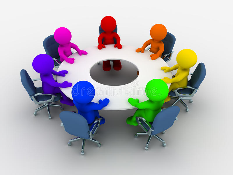 Conference table royalty free illustration